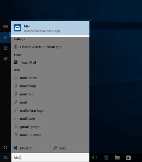 Windows 10 Search Email Email Application Setup Windows 10 Mail