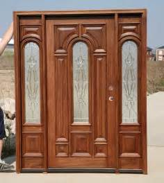 Stain Exterior Door Exterior Solid Mahogany Door Early American Stain Color