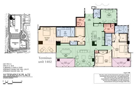 extraordinary price for gorgeous 3 bedroom condo at - 10 Terminus Place Floor Plans