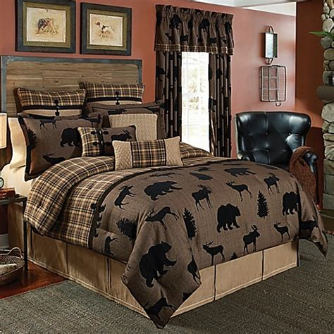 bed bath and beyond order status croscill 174 summit comforter set in brown bed bath beyond