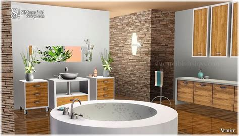 sims 3 bathroom ideas my sims 3 blog vertice bathroom set by simcredible designs