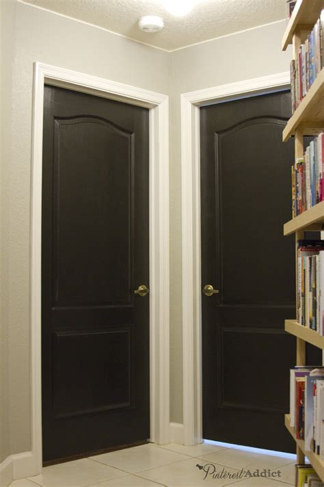 Painting Doors Black by Painting The Interior Doors Black