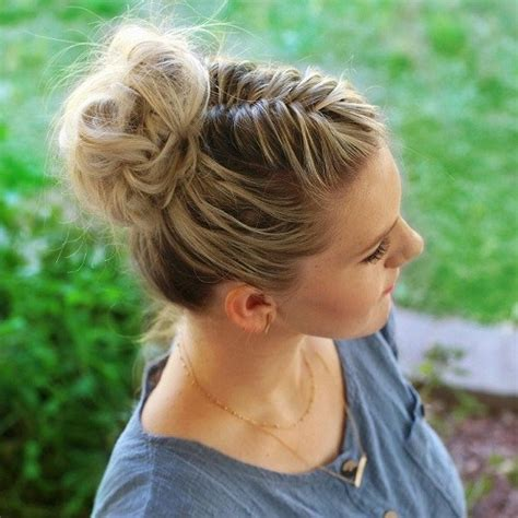 casual braided hairstyles for medium hair 30 easy and stylish casual updos for long hair