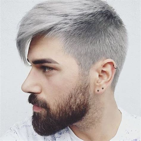 undercut hairstyles for men with gray hair modern hairstyle for men with grey color world trends