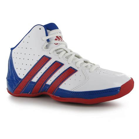 adidas rise up adidas rise up 2 nba boys basketball shoes white red royal