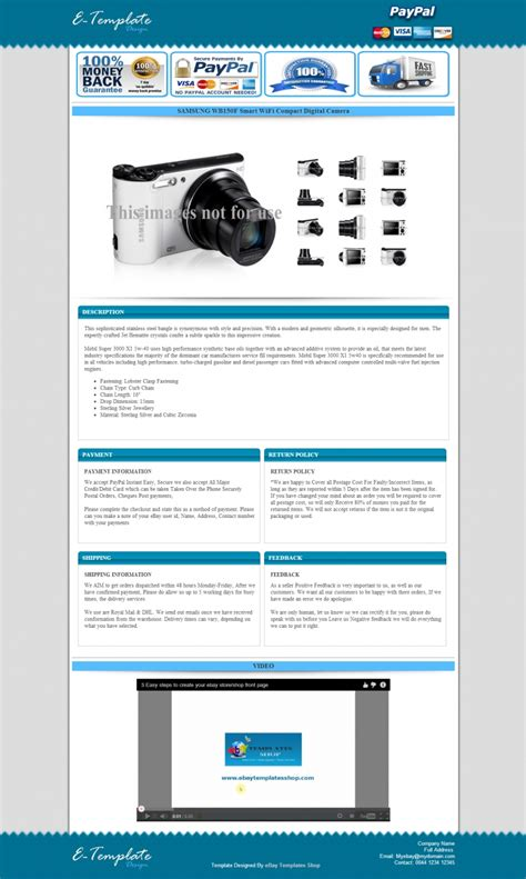 ebay store template design image gallery html auction templates