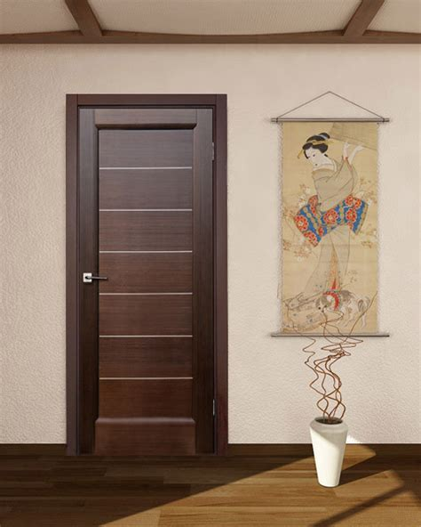 Interior Door Finishes Quot Lagoon Quot Wenge Hallway Interior Door Modern Interior Doors New York By Ville Doors