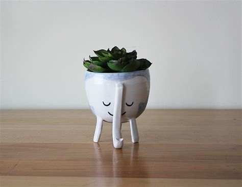 elephant wall planter 187 three legged elephant planter in baby blue