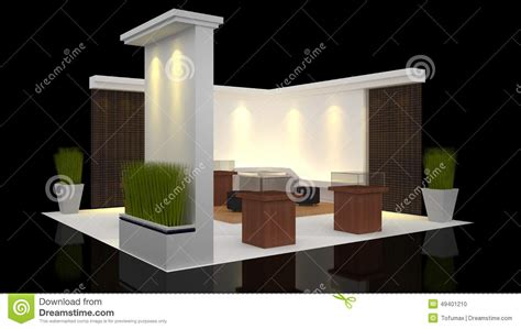exhibition table layout booth exhibition stock illustration image 49401210