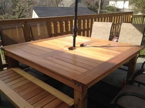 make your own picnic bench build your own patio table so pretty free step by step