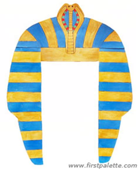 pharaoh crown template pharaoh headdress craft crafts firstpalette