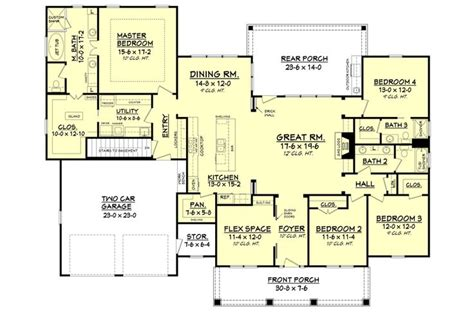 craftsman open floor plans craftsman style open floor plans small craftsman style