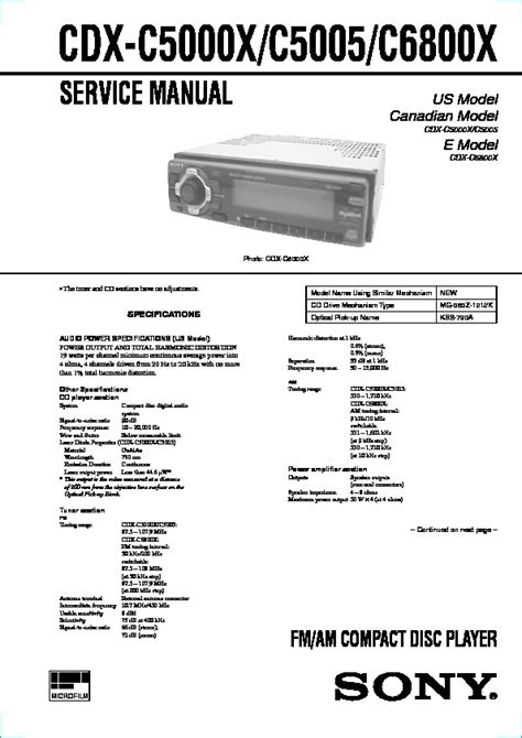 sony compact cd player wiring diagram compact