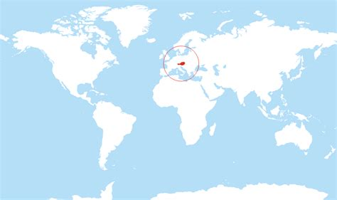 austria on the world map where is austria located on the world map