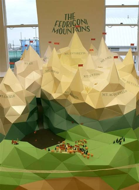 How To Make Mountain With Paper - papercraft mountain ranges the fedrigoni mountains by