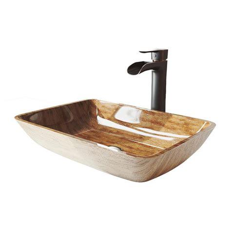 rectangular vessel sink vigo rectangular glass vessel sink in turquoise water with