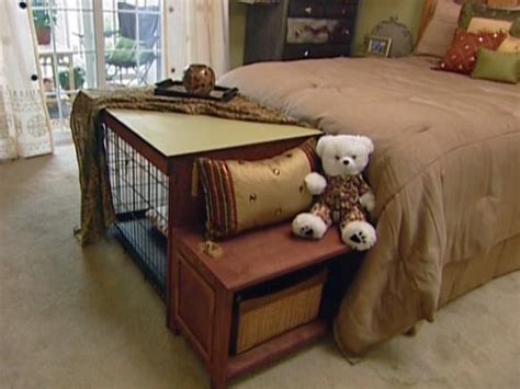 puppy bed in crate how to build a crate cover bench seat hgtv