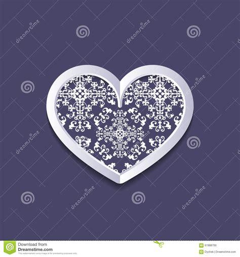 vintage heart pattern openwork vintage heart stock vector image 61888766