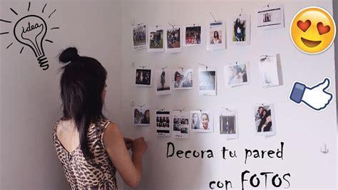 decorar tu pared con fotos diy decora tu pared con fotos super f 225 cil diy youtube