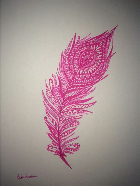 henna feather tattoo designs hippie henna design feather pink tattoos