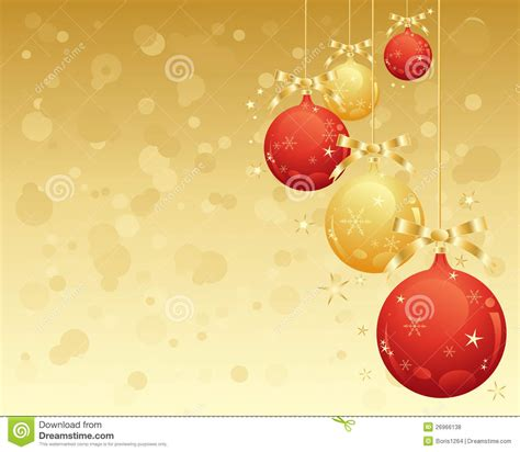 red  gold baubles royalty  stock  image