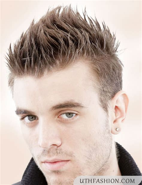 short hair cuts with a spike on it new spiky hairstyles for men 2015