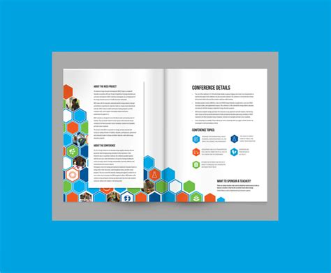 conference brochure template sle conference brochure templates 13