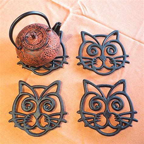 trivets for dining table cat trivet black cast iron for kitchen dining table