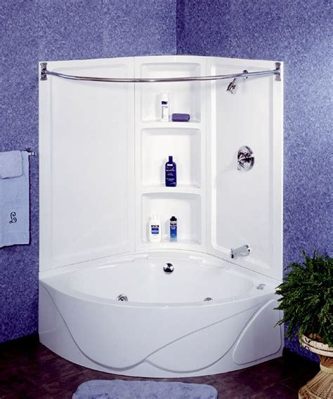 corner bathtub shower combo small bathroom pin by angie fischer on for the home pinterest