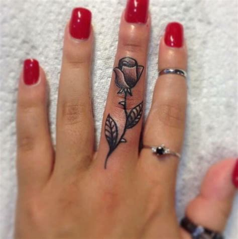finger rose tattoo 56 best tattoos on wrist finger images on