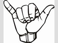 Sign Language Y Hang Loose Clip Art at Clker.com - vector ... Clip Art Hang Loose