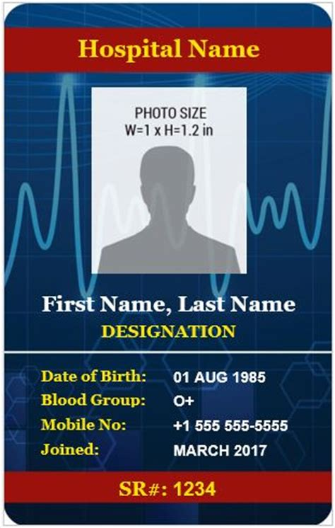 doctors photo id badge templates  ms word word