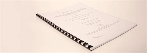 spiral bound dissertation plastic comb binding thesis