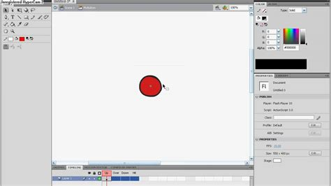 button tutorial in flash adobe flash cs4 tutorial color changing button youtube