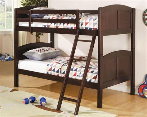 coaster furniture bunk bed coaster furniture twin over twin bunk bed in cappuccino