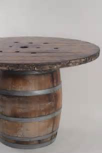 wine barrel cocktail table for rent