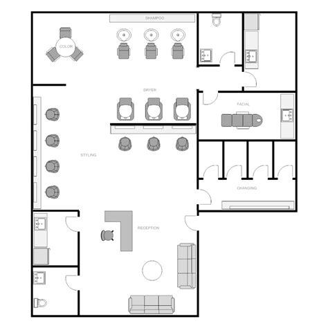 exles of floor plans salon floor plan