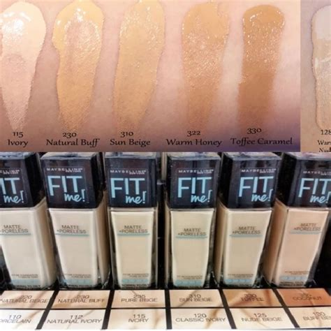 Maybelline Fit Me Matte maybelline fit me matte poreless foundation cosmetic planet