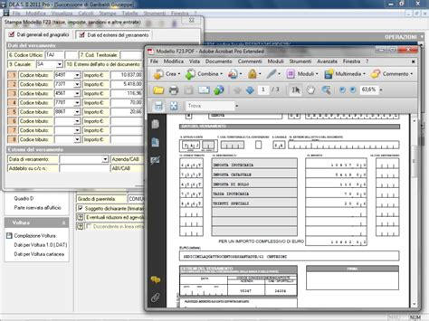 f23 codice ufficio de a s ii pro gestione completa successioni e volture