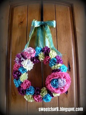 tissue paper flower wreath tutorial tissue paper wreath tutorial sweet charli