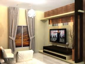 Luxurious living room with tv wall and glossy wooden floor ipc378