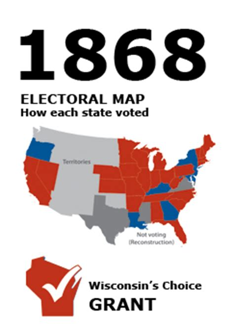 1868 election wi results | presidential elections