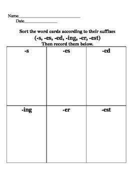 suffix sort (s,es,ed,ing,er,est) by z kellock | teachers