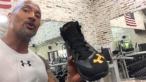 dwayne johnson the rock shoes dwayne johnson previews his new rocks fiya under armour