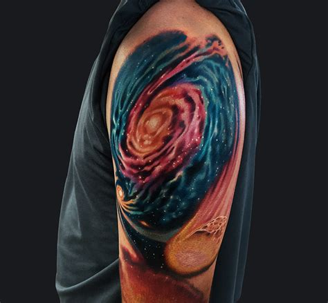 galaxy sleeve tattoo galaxy half sleeve www pixshark images