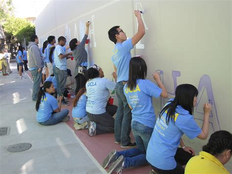 painting in school one one cause at a glance ucla volunteer center