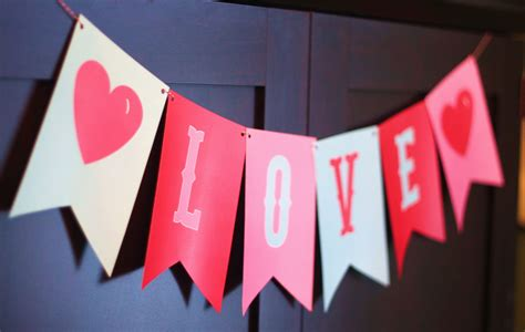 day banner banner photo prop valentines decor in pink aqua