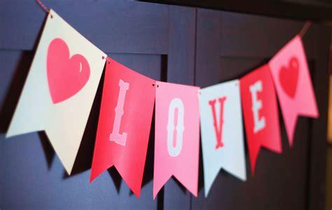 A Paper Banner - banner photo prop valentines decor in pink aqua
