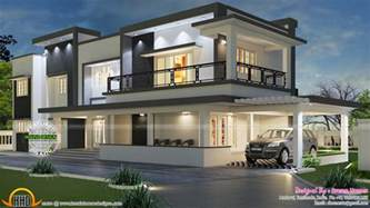contemporary homes floor plans modern flat roof house in tamilnadu house elevation