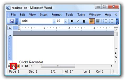 web layout view in ms word click recorder 2 screen capture and automatic help